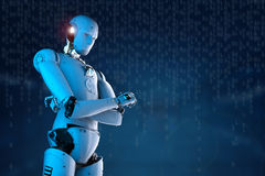 Humanoid robota ręka crosssed ilustracji