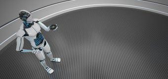 Humanoid Roboter-Kompass lizenzfreie abbildung