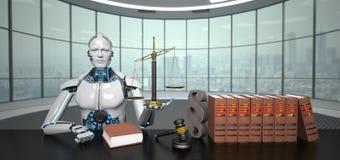 Humanoid Roboter-Rechtsanwalt lizenzfreie abbildung