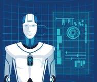 Humanoid Roboteravatara vektor abbildung