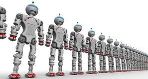 Humanoid robots Stock Photo