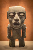 Humanoid Skulpture. In mexican Museum Stock Images