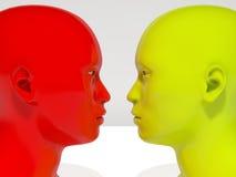 Humanoid van aangezicht tot aangezicht royalty-vrije illustratie