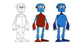Humanoidroboter vektor abbildung