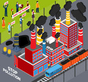 Humans Against Industrial Pollution Stock Photography