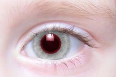 Humans eye with national flag of japan. Human`s eye with national flag of japan royalty free stock photo