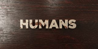 Humans - grungy wooden headline on Maple  - 3D rendered royalty free stock image Stock Photos