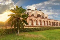 Humayun坟茔新德里,印度 库存照片