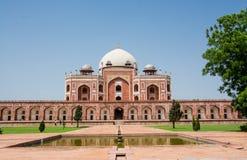 Humayun坟茔新的德里,印度 库存照片
