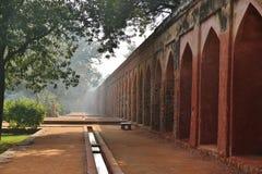 Humayun的坟茔墙壁, 库存图片