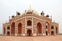 Humayun ` s坟茔,德里,印度 免版税库存图片