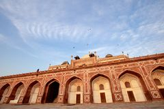 Humayun` s Graf in Delhi, India royalty-vrije stock afbeelding