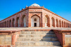Humayuns Tomb in the daytime with blue sky on the background Stock Photo