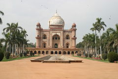 Humayun's Tomb, Delhi. Humayun's Tomb was the first building to be constructed during the reign of Akbar. The mausoleum was built from 1562-1572 AD in Delhi. It Royalty Free Stock Photo