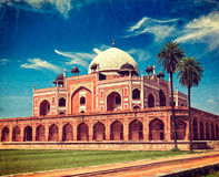 Humayun's Tomb. Delhi, India. Vintage retro hipster style travel image of Humayun's Tomb with overlaid grunge texture. Delhi, India Royalty Free Stock Photo