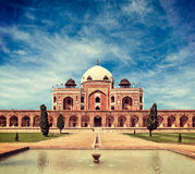 Humayun's Tomb. Delhi, India. Vintage retro hipster style travel image of Humayun's Tomb with overlaid grunge texture. Delhi, India. UNESCO World Heritage Site Royalty Free Stock Photo
