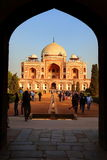 Humayun's Tomb, New Delhi, India. Humayun died in 1556, and his widow Hamida Banu Begam, also known as Haji Begam, commenced the construction of his tomb in 1569 Royalty Free Stock Photo