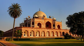 Humayun's Tomb, New Delhi, India. Humayun died in 1556, and his widow Hamida Banu Begam, also known as Haji Begam, commenced the construction of his tomb in 1569 Royalty Free Stock Images