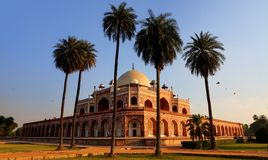 HUMAYUN'S TOMB, NEW DELHI, INDIA. Humayun died in 1556, and his widow Hamida Banu Begam, also known as Haji Begam, commenced the construction of his tomb in 1569 Stock Photos