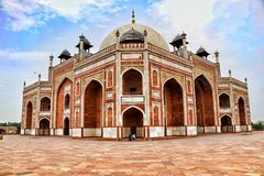 Humayun tomb. Humayun  tomb is one of the most oldest buildings in Delhi, India and holds a greast value in the Indian history. It was created under the  mughal Royalty Free Stock Photography
