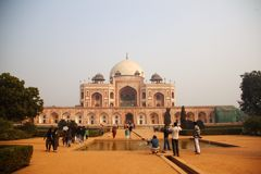 Humayun Tomb in Delhi 2011, 30 December, Stock Afbeeldingen