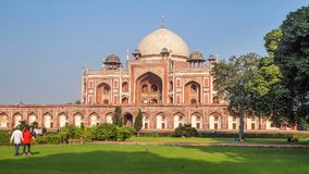 Humayun Tomb in Delhi, in the neighborhood of Nizamuddin East, close to the citadel Dina-panah in India, UNESCO World Heritage Sit royalty free stock photo