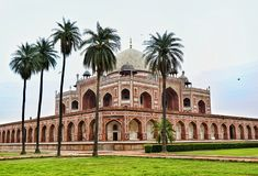 Humayun tomb. Humaun& x27;s tomb  is the tomb of the Mughal Emperor Humayun in Delhi, India. The tomb was commissioned by Humayun& x27;s first wife and Stock Photos