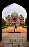 Humayun tomb. Humaun& x27;s tomb  is the tomb of the Mughal Emperor Humayun in Delhi, India. The tomb was commissioned by Humayun& x27;s first wife and Royalty Free Stock Photography