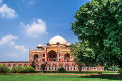 Humayun Tomb with isolated blue sky Stock Photo