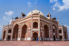 Humayun Tomb with isolated blue sky Royalty Free Stock Photo