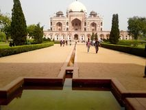 Humayun Tomb, New Delhi India. Humayun's tomb is the tomb of the Mughal Emperor Humayun in Delhi, India. The tomb was commissioned by Humayun's first wife Bega Royalty Free Stock Image