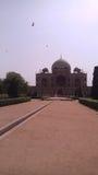 Humayuns坟茔在一个晴天 免版税图库摄影