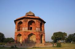 Humayuns私人图书馆, Purana Qila,新德里,印度 库存照片
