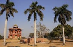 Humayuns私人图书馆, Purana Qila,新德里 库存照片