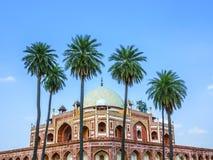 Humayuns gravvalv. Delhi Arkivbilder