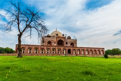 A view of Humayun`s Tomb Stock Photo