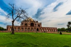 A view of Humayun`s Tomb Stock Images