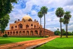 Humayuns Tomb i New Delhi, Indien Arkivbilder