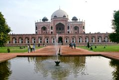 The Humayuns tomb stock image
