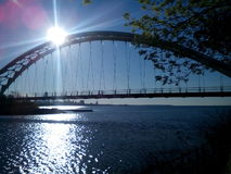 Humber海湾天空桥梁 库存图片