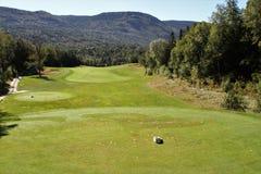 Humber谷,纽芬兰高尔夫球手段 免版税库存图片