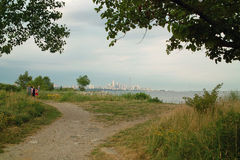 Humber Bay Beach view of Toronto Ontario Canada royalty free stock photos