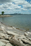 Humber Bay Beach view of Toronto Ontario Canada Royalty Free Stock Images