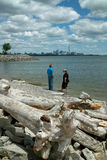 Humber Bay Beach view of Toronto Ontario Canada Stock Image