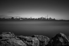 Humber Bay. Looking towards downtown Toronto, Canada Royalty Free Stock Image