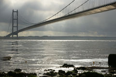 Humber-Brücke, Kingston nach Rumpf stockbilder