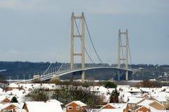 Humber-Brücke, Kingston nach Rumpf stockbild