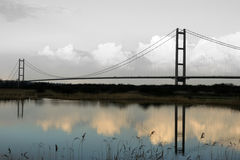 Humber-Brücke, Kingston nach Rumpf stockfotos