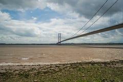 Humber-Brücke vom Ufer Lizenzfreies Stockfoto