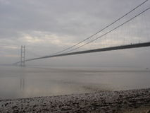 The Humber Bridge. This picture is of the Humber Bridge in the UK, and was taken on an early misty morning Stock Image